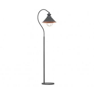 NOWODVORSKI 5056 | Loft Nowodvorski podna svjetiljka 179cm s prekidačem 1x E27 taupe, crveni bakar