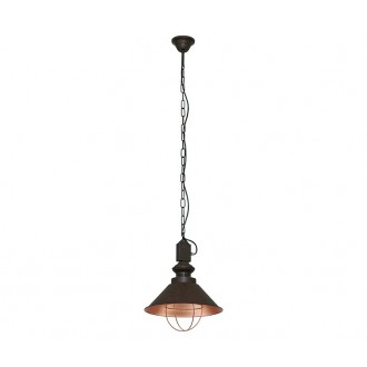 NOWODVORSKI 5057   Loft Nowodvorski visilice svjetiljka 1x E27 čokolada, crveni bakar