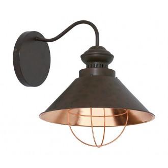 NOWODVORSKI 5058   Loft Nowodvorski zidna svjetiljka 1x E27 čokolada, crveni bakar