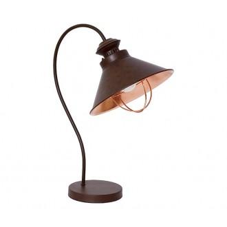 NOWODVORSKI 5060 | Loft Nowodvorski stolna svjetiljka 48cm s prekidačem 1x E27 čokolada, crveni bakar