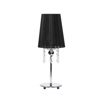 NOWODVORSKI 5262 | Modena Nowodvorski stolna svjetiljka 41cm s prekidačem 1x E14 krom, crno, prozirno