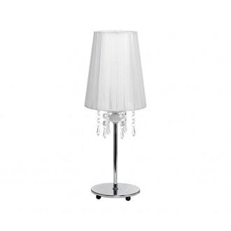 NOWODVORSKI 5263 | Modena Nowodvorski stolna svjetiljka 41cm s prekidačem 1x E14 krom, bijelo, prozirno