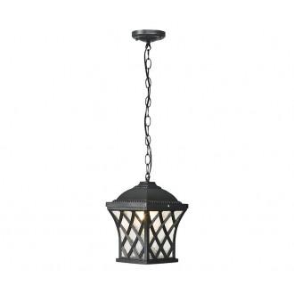 NOWODVORSKI 5293 | Tay Nowodvorski visilice svjetiljka 1x E27 IP23 tamno siva, prozirna