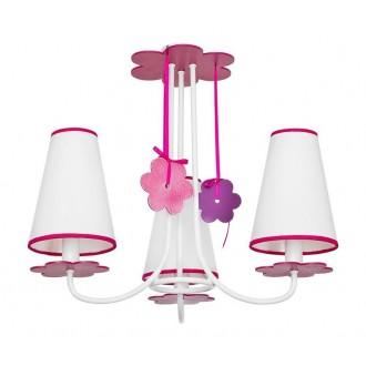 NOWODVORSKI 5304 | Praslin Nowodvorski stropne svjetiljke svjetiljka 3x E14 bijelo, ružičasto, ljubičasta