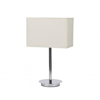 NOWODVORSKI 5476 | Hotel Nowodvorski stolna svjetiljka 43cm s prekidačem 1x E27 krom, bijelo