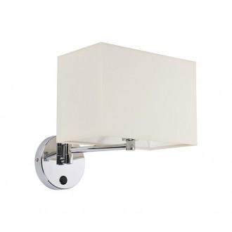 NOWODVORSKI 5522 | Hotel Nowodvorski zidna svjetiljka s prekidačem elementi koji se mogu okretati 1x E14 krom, bijelo