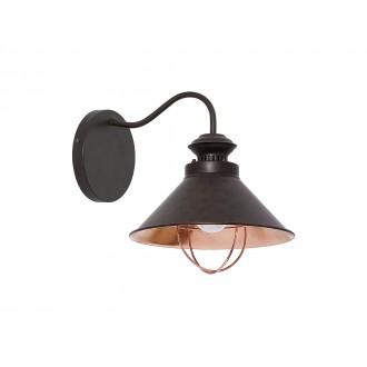 NOWODVORSKI 5664   Loft Nowodvorski zidna svjetiljka 1x E27 čokolada, crveni bakar
