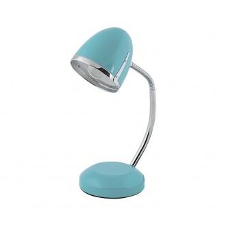 NOWODVORSKI 5797 | Pocatello Nowodvorski stolna svjetiljka 36cm s prekidačem fleksibilna 1x E27 plavo, krom