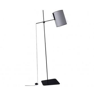 NOWODVORSKI 6010 | Zelda Nowodvorski podna svjetiljka 165cm sa nožnim prekidačem elementi koji se mogu okretati 1x E27 sivo, crno