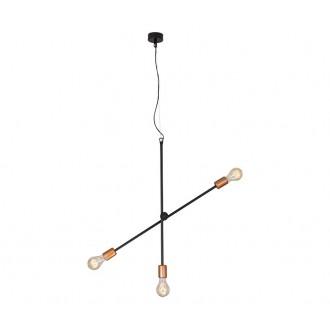 NOWODVORSKI 6268 | Sticks Nowodvorski visilice svjetiljka elementi koji se mogu okretati 3x E27 crno, crveni bakar