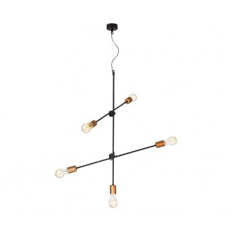 NOWODVORSKI 6270 | Sticks Nowodvorski visilice svjetiljka elementi koji se mogu okretati 5x E27 crno, crveni bakar