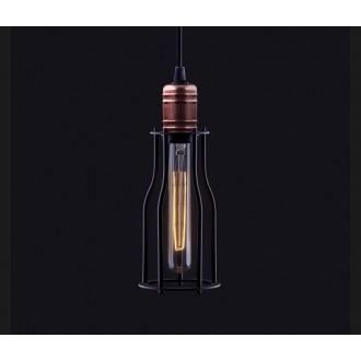 NOWODVORSKI 6337 | Workshop Nowodvorski visilice svjetiljka 1x E27 crno, crveni bakar