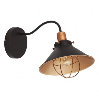 NOWODVORSKI 6442 | Garret Nowodvorski zidna svjetiljka 1x E27 crno, crveni bakar