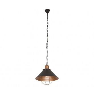 NOWODVORSKI 6443 | Garret Nowodvorski visilice svjetiljka 1x E27 crno, crveni bakar