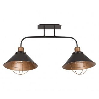 NOWODVORSKI 6445 | Garret Nowodvorski stropne svjetiljke svjetiljka 2x E27 crno, crveni bakar