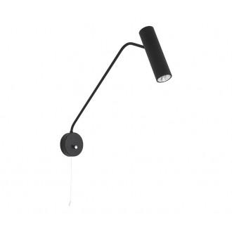 NOWODVORSKI 6501 | Eye-Black Nowodvorski zidna svjetiljka s poteznim prekidačem elementi koji se mogu okretati 1x GU10 crno