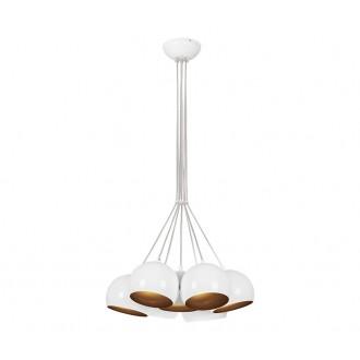 NOWODVORSKI 6604 | Ball Nowodvorski visilice svjetiljka 7x GU10 bijelo, zlatno