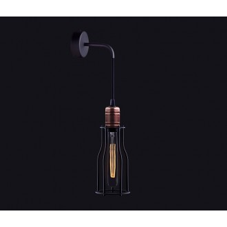 NOWODVORSKI 6605 | Workshop Nowodvorski zidna svjetiljka 1x E27 crno, crveni bakar