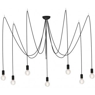 NOWODVORSKI 6785 | Spider Nowodvorski visilice svjetiljka 7x E27 crno