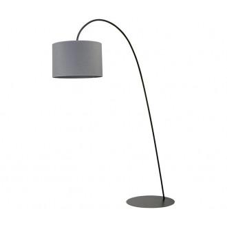 NOWODVORSKI 6818 | AliceN Nowodvorski podna svjetiljka 205cm s prekidačem 1x E27 crno, sivo