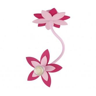 NOWODVORSKI 6893 | Flowers Nowodvorski zidna, stropne svjetiljke svjetiljka fleksibilna 1x GU10 ružičasto, crveno