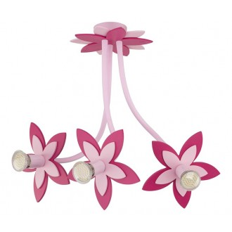 NOWODVORSKI 6894 | Flowers Nowodvorski zidna, stropne svjetiljke svjetiljka fleksibilna 3x GU10 ružičasto, crveno