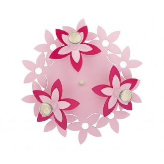 NOWODVORSKI 6895 | Flowers Nowodvorski zidna, stropne svjetiljke svjetiljka 3x GU10 ružičasto, crveno
