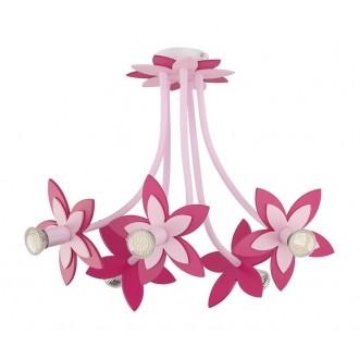 NOWODVORSKI 6896 | Flowers Nowodvorski stropne svjetiljke svjetiljka fleksibilna 5x GU10 ružičasto, crveno