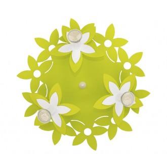 NOWODVORSKI 6900 | Flowers Nowodvorski zidna, stropne svjetiljke svjetiljka 3x GU10 zeleno, bijelo