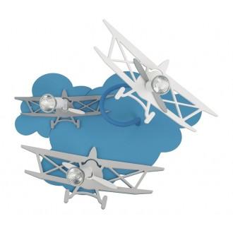 NOWODVORSKI 6904 | Plane Nowodvorski zidna, stropne svjetiljke svjetiljka elementi koji se mogu okretati 3x GU10 plavo, sivo, bijelo