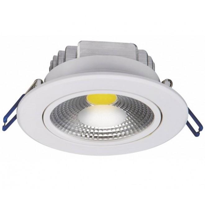 NOWODVORSKI 6972 | Ceiling-COB Nowodvorski ugradbena svjetiljka pomjerljivo Ø105mm 1x LED 780lm 3000K bijelo