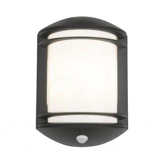 NOWODVORSKI 7016 | Quartz Nowodvorski zidna svjetiljka sa senzorom 1x E27 IP21 crno, bijelo