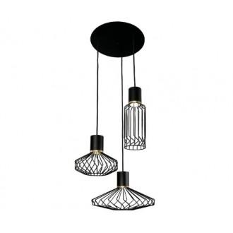 NOWODVORSKI 8863 | Pico-NW Nowodvorski visilice svjetiljka 3x GU10 crno, zlatno