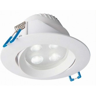 NOWODVORSKI 8988 | Eol Nowodvorski ugradbena svjetiljka pomjerljivo Ø102mm 1x LED 265lm 3000K IP44 bijelo