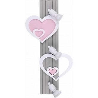 NOWODVORSKI 9063 | Heart-NW Nowodvorski zidna svjetiljka elementi koji se mogu okretati 3x GU10 sivo, bijelo, ružičasto