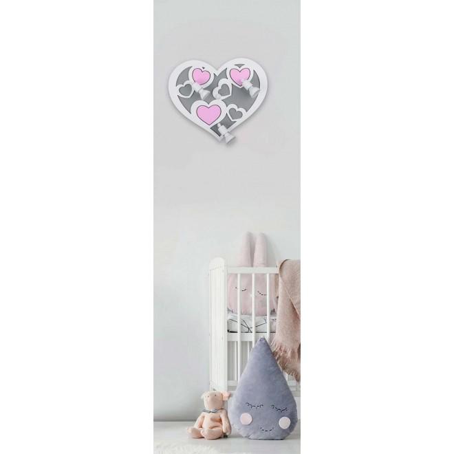 NOWODVORSKI 9064 | Heart-NW Nowodvorski zidna svjetiljka elementi koji se mogu okretati 3x GU10 sivo, bijelo, ružičasto