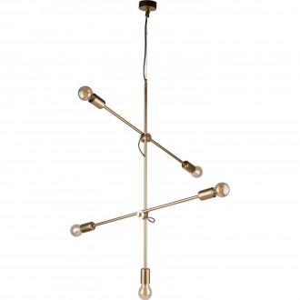 NOWODVORSKI 9076 | Sticks Nowodvorski visilice svjetiljka elementi koji se mogu okretati 5x E27 zlatno