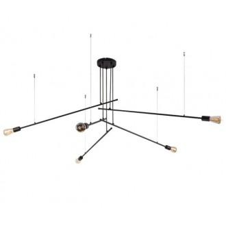 NOWODVORSKI 9127 | Pile Nowodvorski luster svjetiljka 5x E27 crno