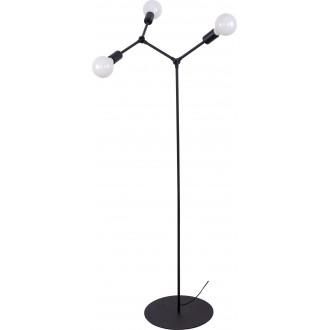 NOWODVORSKI 9137 | Twig Nowodvorski podna svjetiljka 153cm s prekidačem elementi koji se mogu okretati 3x E27 crno