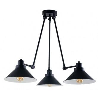 NOWODVORSKI 9142 | Techno-NW Nowodvorski luster svjetiljka elementi koji se mogu okretati 3x E27 crno, bijelo