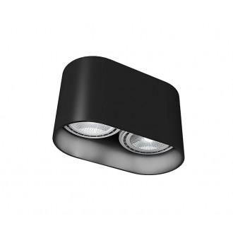NOWODVORSKI 9240 | OvalN Nowodvorski stropne svjetiljke svjetiljka 2x GU10 / ES111 crno