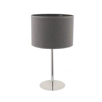 NOWODVORSKI 9301 | Hotel Nowodvorski stolna svjetiljka 43cm sa prekidačem na kablu 1x E27 sivo, krom