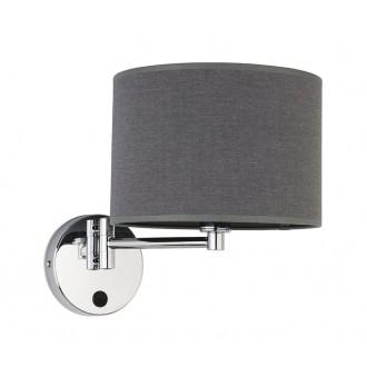 NOWODVORSKI 9303 | Hotel Nowodvorski zidna svjetiljka elementi koji se mogu okretati 1x E14 sivo, krom