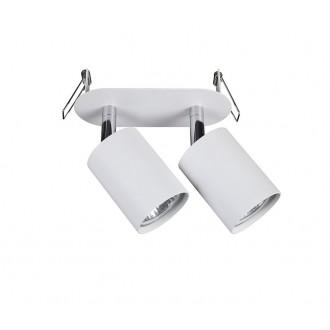 NOWODVORSKI 9395 | Eye-Fit Nowodvorski ugradbena svjetiljka elementi koji se mogu okretati 55x155mm 2x GU10 bijelo