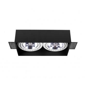 NOWODVORSKI 9403 | Mod-Plus Nowodvorski ugradbene svjetiljke - snažnozračne svjetiljke svjetiljka 230x116mm 2x GU10 / ES111 crno