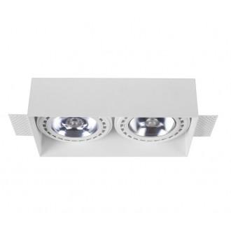 NOWODVORSKI 9407 | Mod-Plus Nowodvorski ugradbene svjetiljke - snažnozračne svjetiljke svjetiljka 230x116mm 2x GU10 / ES111 bijelo