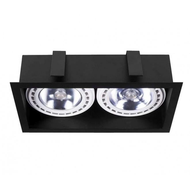 NOWODVORSKI 9416 | Mod Nowodvorski ugradbene svjetiljke - snažnozračne svjetiljke svjetiljka 2x GU10 / ES111 crno