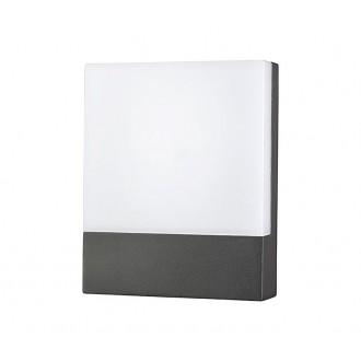 NOWODVORSKI 9422 | Flat Nowodvorski zidna svjetiljka 1x LED 350lm 3000K IP54 grafit, bijelo