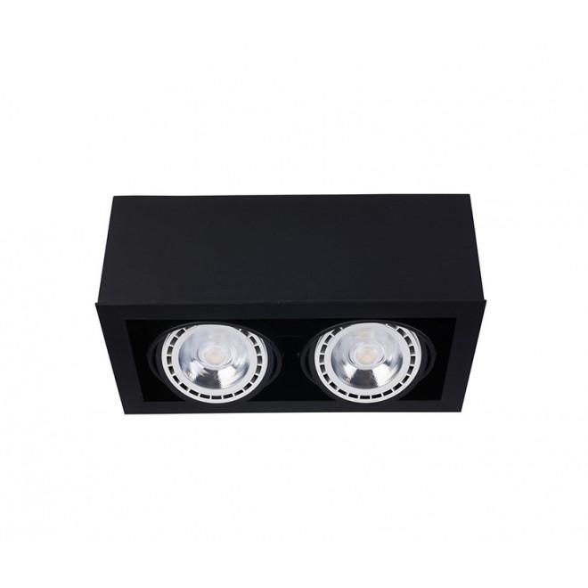 NOWODVORSKI 9470   BoxN Nowodvorski stropne svjetiljke svjetiljka izvori svjetlosti koji se mogu okretati 2x GU10 / ES111 crno
