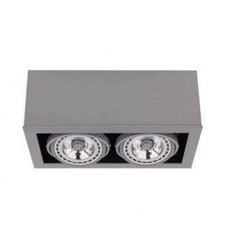 NOWODVORSKI 9471 | BoxN Nowodvorski stropne svjetiljke svjetiljka izvori svjetlosti koji se mogu okretati 2x GU10 / ES111 sivo
